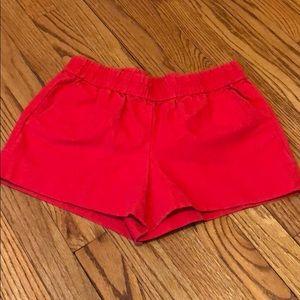 {j crew factory} stretch waist shorts